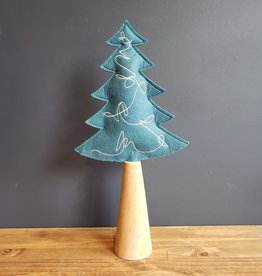 Blue Felt Tree, Lg