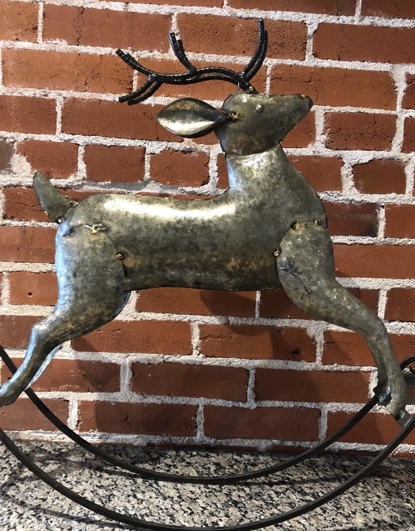 Zinc Rocking deer