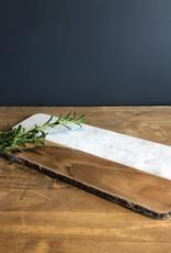 White Marble & Mango Cutting Board