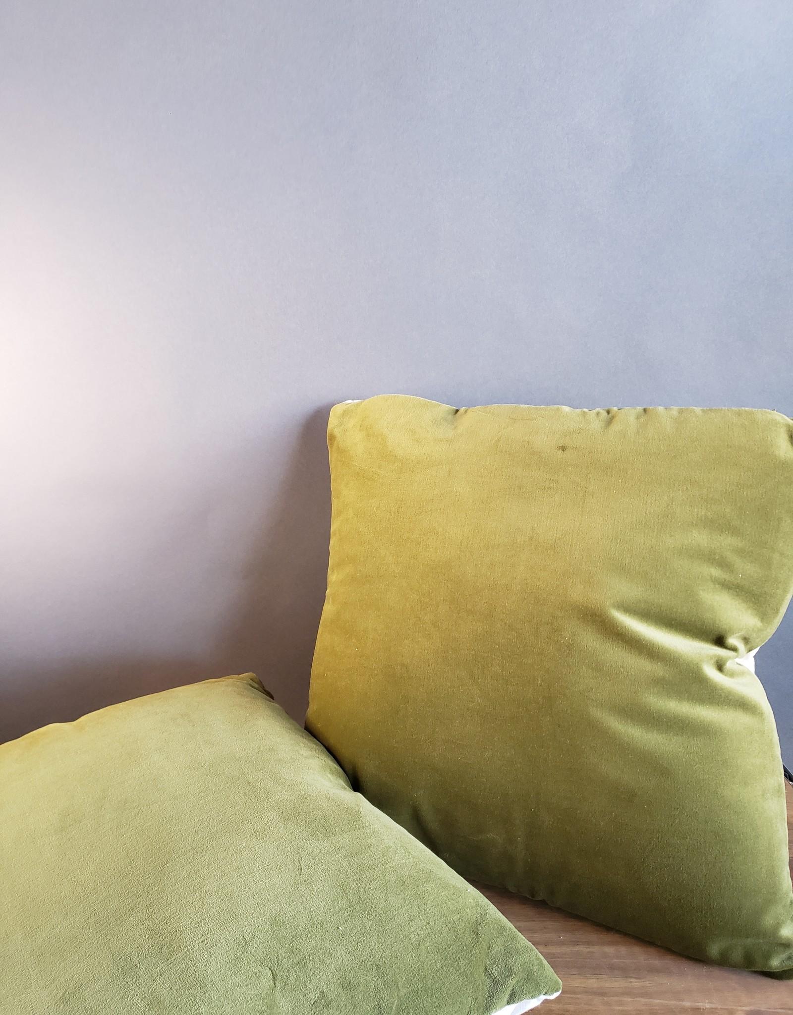 Crushed Velvet Moss Pillow