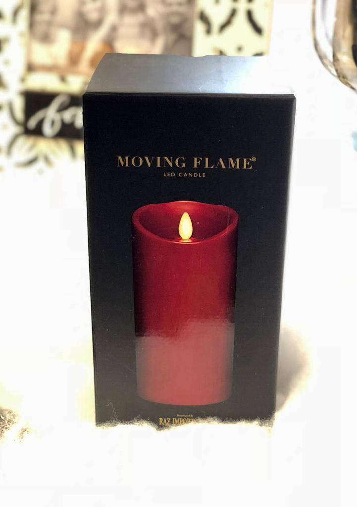 HOME FRAGRANCE 3.5X7 RED BATTERY CANDLE