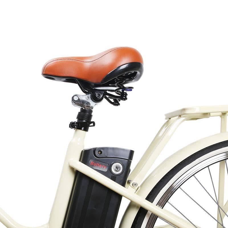 "Classic Electric Bicycle 26"" Step Thru Creme"