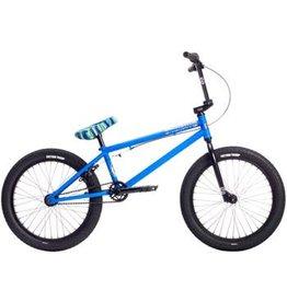 """Stolen 2019 Casino 20"""" BMX Bike Matte Black/Ocean Breeze Blue"""