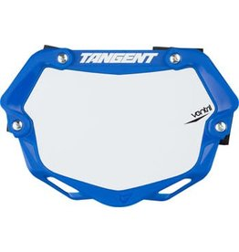 Tangent Ventril 3D Small Number Plate Blue with White Insert