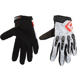 G-Form Pro Trail Gloves: White Topo LG