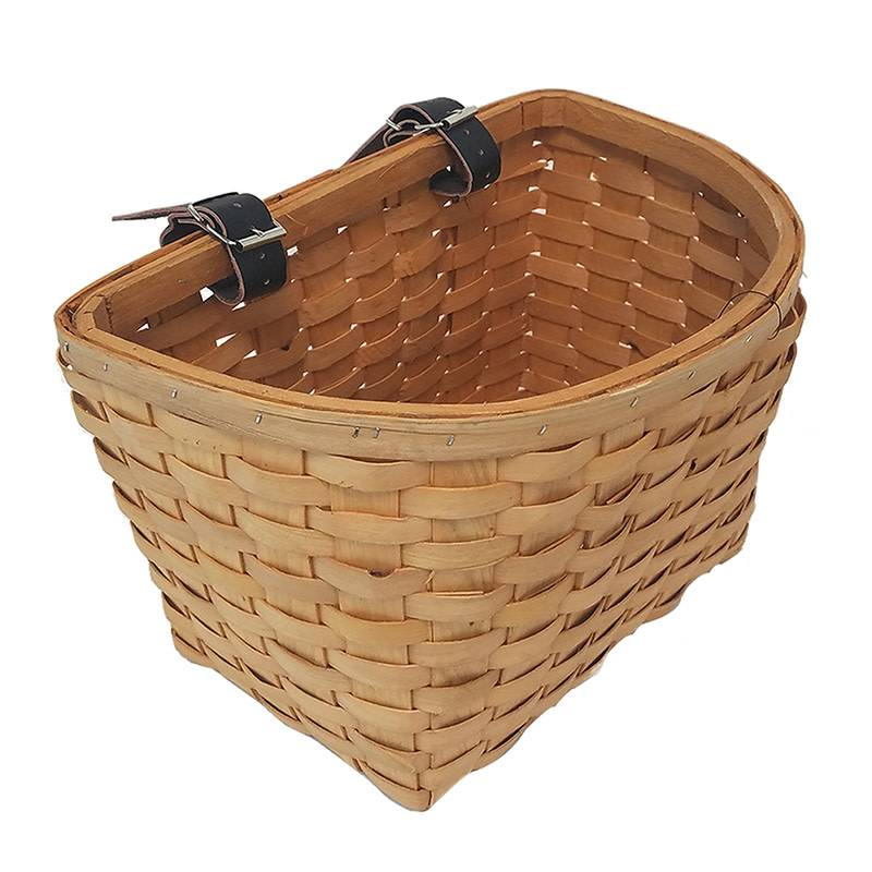 BASKET SUNLT FT WOOD/BEECH NATURL WOVEN w/STRAPS