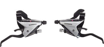 Shimano Shimano ST-EF65-2A 3 x 8-Speed Brake/Shift Lever Set Silver
