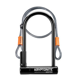 Kryptonite LOCK KRY U KEEPER-12 STD 4x8 w/4ft CBL &BRKT