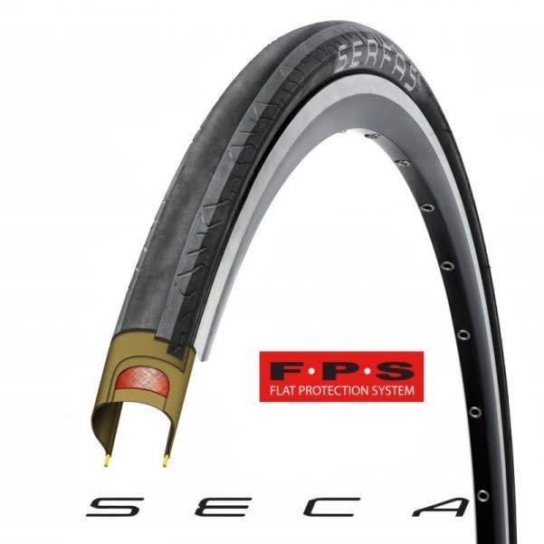 SERFAS SECA TIRE W/FPS - 700 X 25 WIRE BEAD BLACK