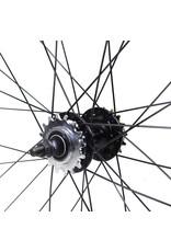 Wheels 700 Black Fixed/Freewheel set 70mm High Flange