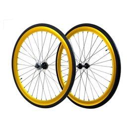 Wheels 700 Gold Fixed/Freewheel set 45mm