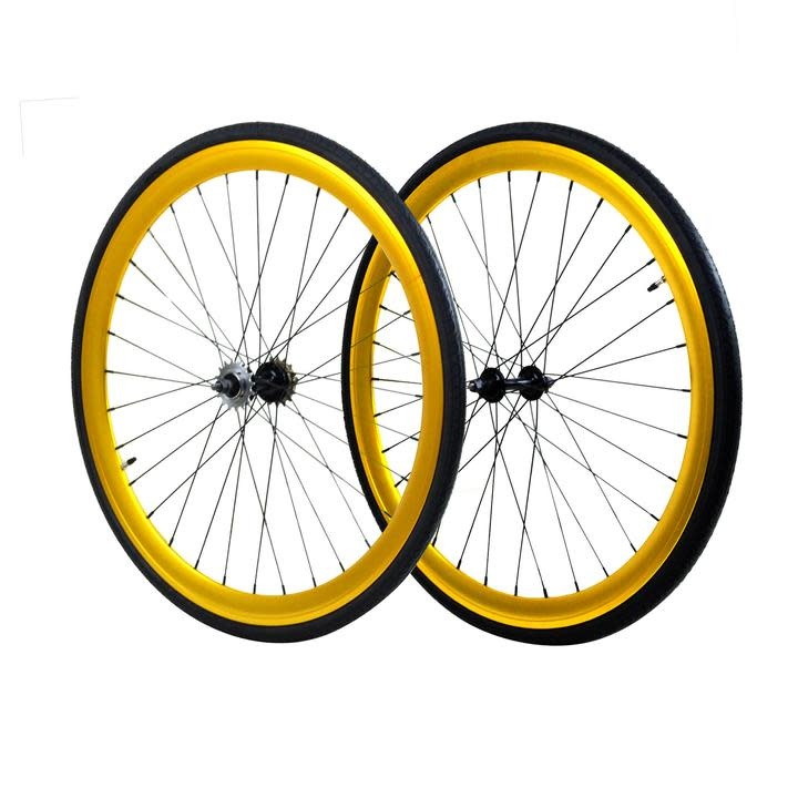 Wheels 700 Gold Fixed/Freewheel set 45mm