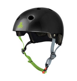 TRIPLE EIGHT HELMET TRIPLE8 BRAIN SVR SKATE/BIKE XS-SM BK/ZEST-GLOSS