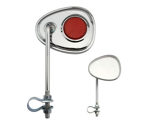F & R Low Riders V Mirror Chrome Red Reflectors
