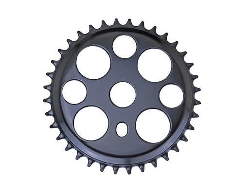 F & R Low Riders Lucky 7 Steel Sprocket 1/2 X 1/8 36t Black
