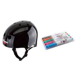 TRIPLE EIGHT HELMET TRIPLE8 WIPEOUT SKATE/BIKE YOUTH-MD BK