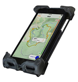 DELTA HBAR MOUNT DELTA SMART PHONE HOLDER HEFTY PLUS TRANS BK