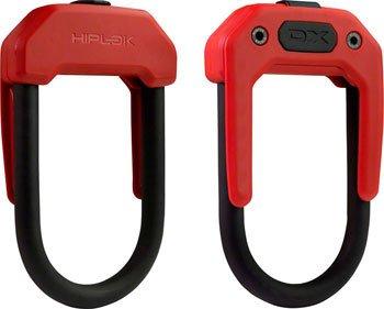 NEW Hiplok DX Wearable Hardened Steel Shackle U-Lock 14mm Red
