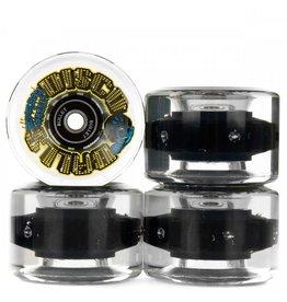 Santa Cruz Skate 60mm Slime Balls Disco Balls w/LED and Bearings White 78A Santa Cruz Skate