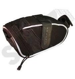 SERFAS BLACK EVA SEAT BAG LARGE, BLACK/WHITE