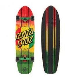 Santa Cruz Skate Rasta Dot Jammer Mid Cruzer 9.22in x 33in