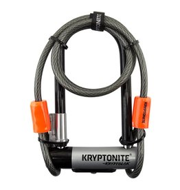 Kryptonite LOCK U KRYPTOLOK MINI-7 3.25x7 w/4ft-CBL BRKT (H)