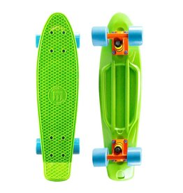 Mayhem Green Deck and Blue  Wheels
