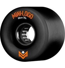 MINI LOGO A.W.O.L. A CUT BLACK 66MM 78A Set of 4