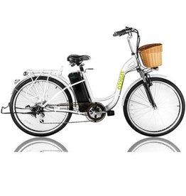 """Nakto Electric Bikes Camel 26"""" Step Thru White"""
