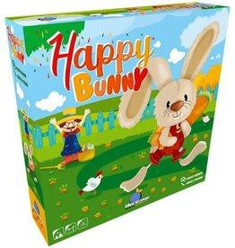 Blue Orange Happy Bunny