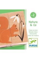 Djeco Cube en bois - Nature et co