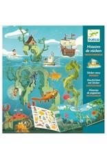 Djeco Histoires de Stickers - Les Aventures de la Mer