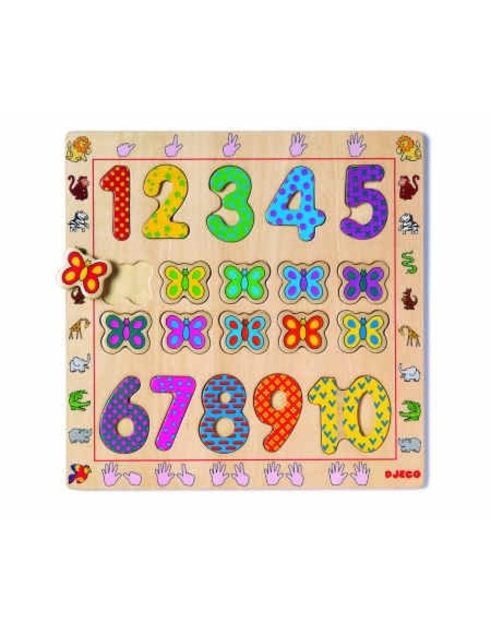 Djeco Puzzle de bois - 1 à 10