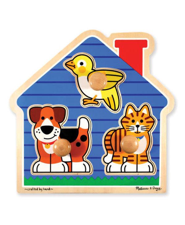 Puzzle à gros boutons - Animaux domestiques