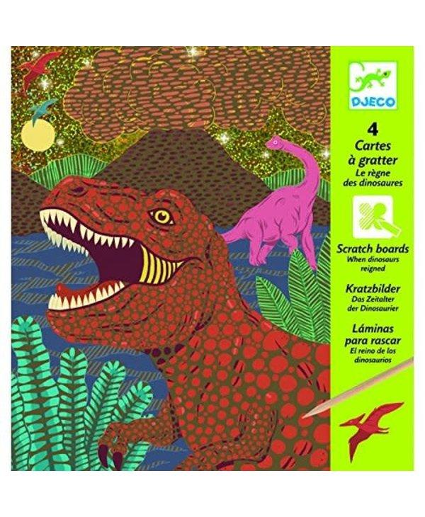 Carte à Gratter - Le règne des dinosaures