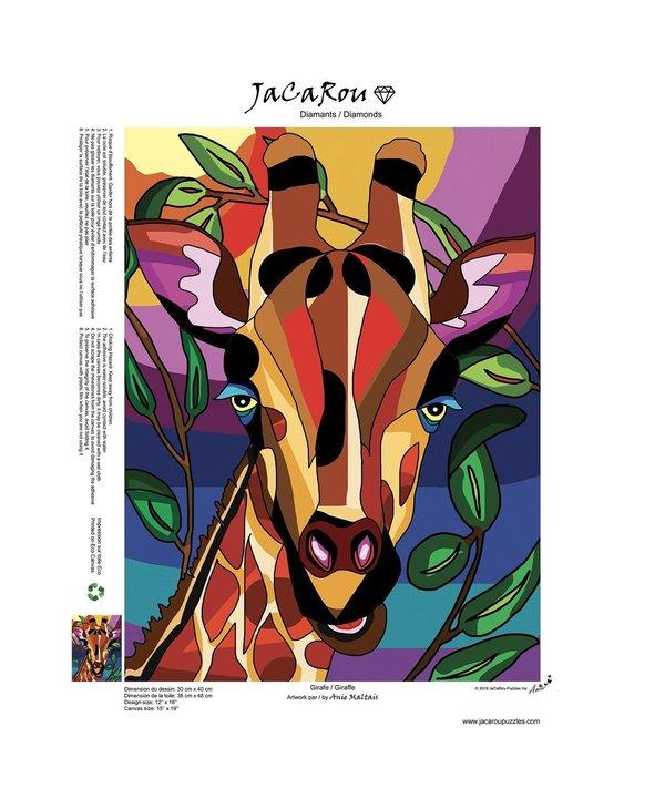 Peinture aux diamants - Girafe (Ronds)