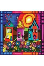 Peinture aux diamants - Maisons (Carrés)