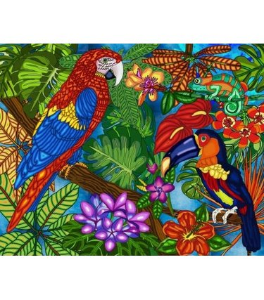 Peinture aux diamants - Tropical (Ronds)