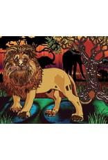 Peinture aux diamants - Lion (Ronds)