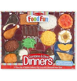 Melissa et Doug Food Fun - Ensemble de Dîner - Rouge
