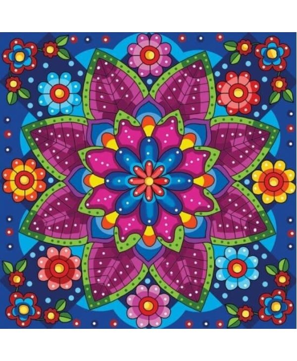 Peinture aux diamants - Mandala Fleuri (Ronds)