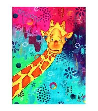 Peinture aux diamants - Sourire d'une Girafe (Carrés)