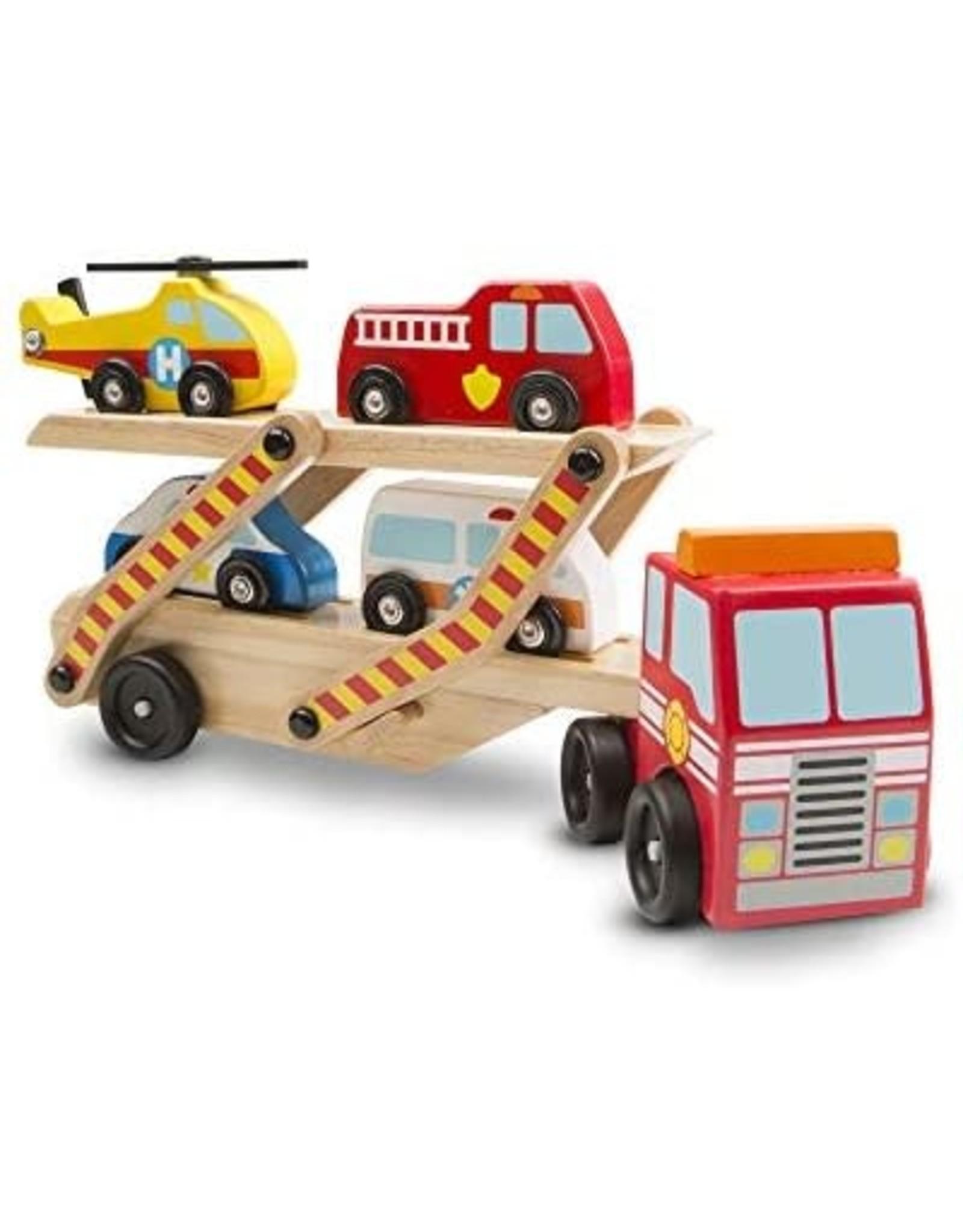 Melissa et Doug Transporteur de véhicules d'urgence