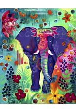 Peinture aux Diamants - L'Éléphant de la Joie (Carrés)