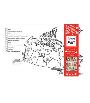Funny Mat Carte du Canada