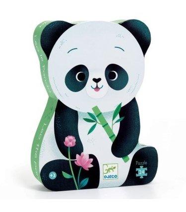 Djeco Puzzle Silhouette - Léo le panda 24mcx