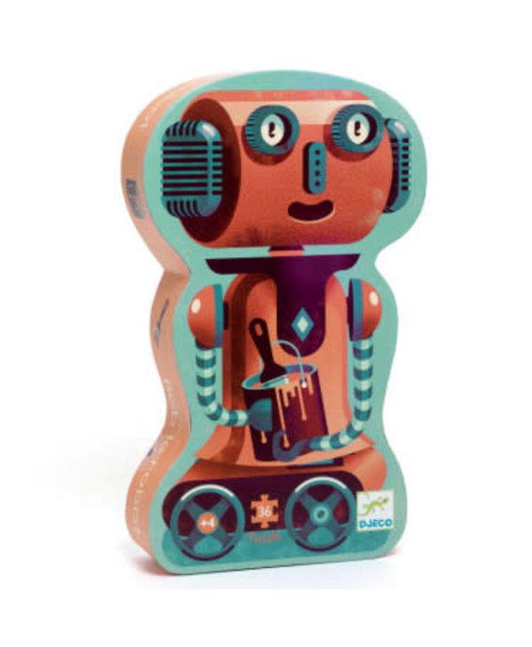 Puzzle silhouette - Bob le robot 36mcx