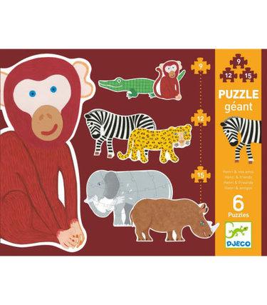 Djeco Puzzle géant - Henri et ses amis