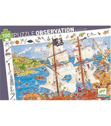 Djeco Puzzle observation - Pirates 100mcx