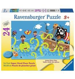 Ravensburger Pirates et pieuvre - Casse-tête de sol 24mcx